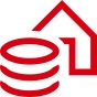 """money and property"" icon; image used for HSBC India Coronavirus Financial Support page"