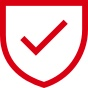 """tick in shield"" icon; image used for HSBC India Coronavirus Fraud Information page"