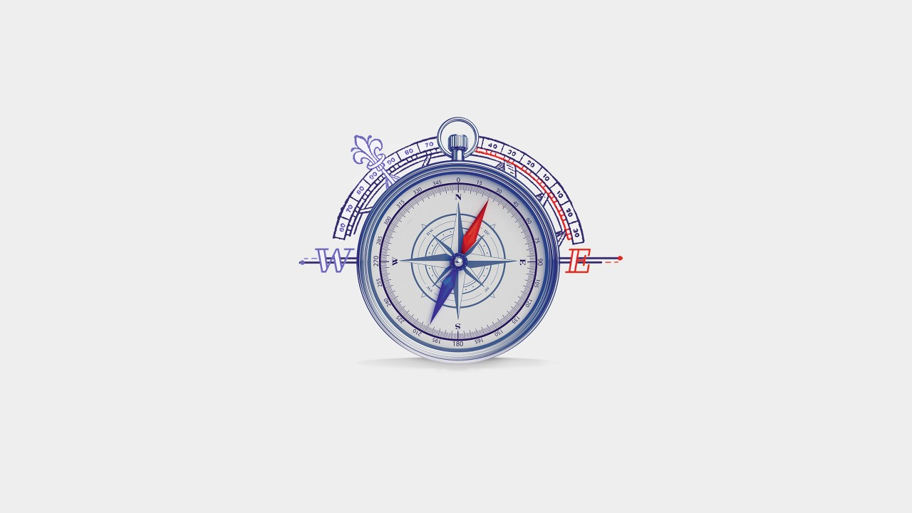 A compass; image used for HSBC India International Privileges global transfer section