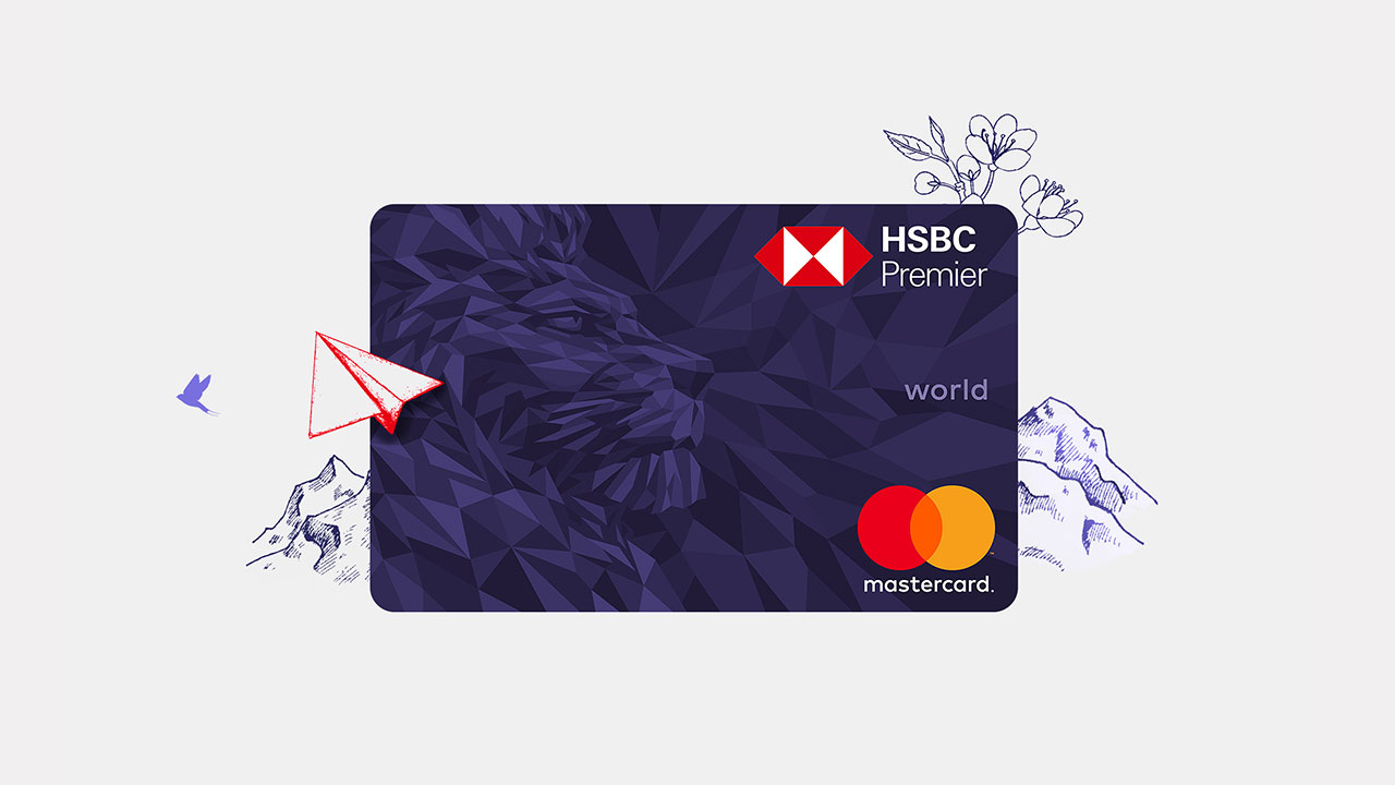 Premier Mastercard; image used for HSBC India Premier day-to-day banking Premier Mastercard section