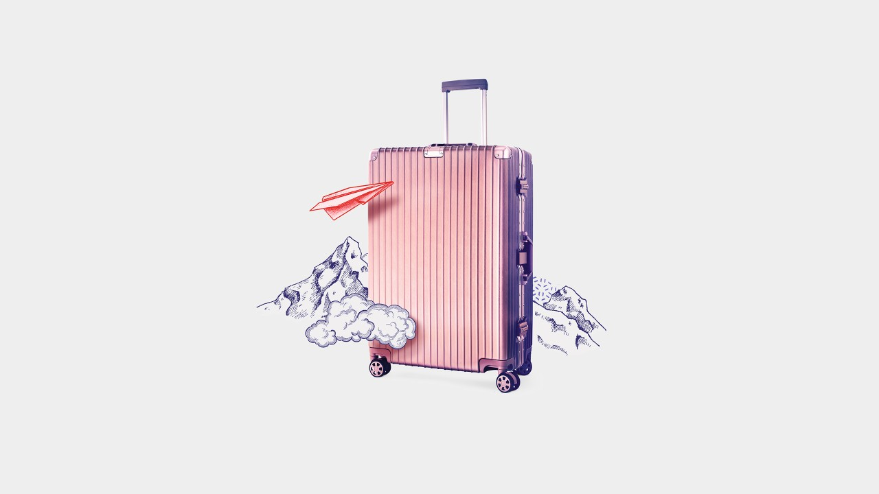 A luggage; image used for HSBC India International Privileges Premier for NRI section